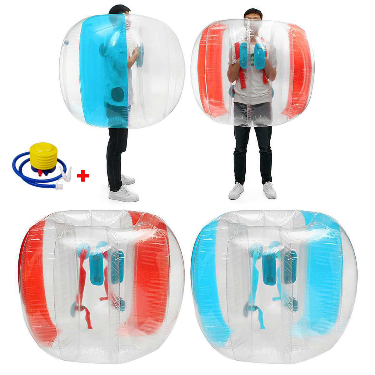 90cm Adults Bumper balls Sports Games Zorbing Ball Bubbles Parent-Child Recreational Sports Fitness Balls Toy Foot Pump For Free