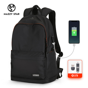 Image 2 - Mazzy Star Waterproof Backpack Men Casual Daypacks USB Charge Laptop Backpack Fits 15.6in Fashion Schoolbag Mochila Hombre 8018