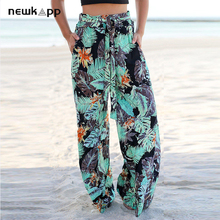New Summer Floral Print Wide Leg Pants G