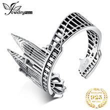 JewelryPalace Twin Towers Rings 925 Sterling Silver for Women Open Stackable Ring Band Jewelry Fine
