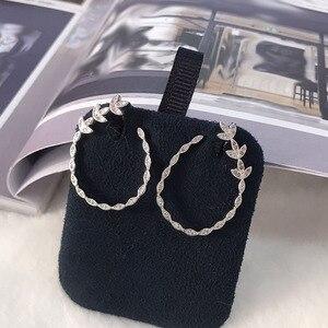 Image 4 - UMGODLY יוקרה אופנה נחושת סלול AAA מעוקב Zirconia אבנים עלים פרחוני עגילים לנשים דצמבר תכשיטים חדשים