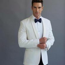 Мужские костюмы bespoke смокинг жениха Белый высокого качества