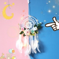 Lace Handmade Dream Catchers Feather With Wedding Decoration Craft Gift