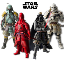 Star Wars 9 Black Series Force Awakens Jedi knight Action figure Yoda Boba Fett Model Black Samurai Anime figure Toy for Kids play arts kai square enix star wars boba fett figma movable playarts pa variant speelgoed action figure model