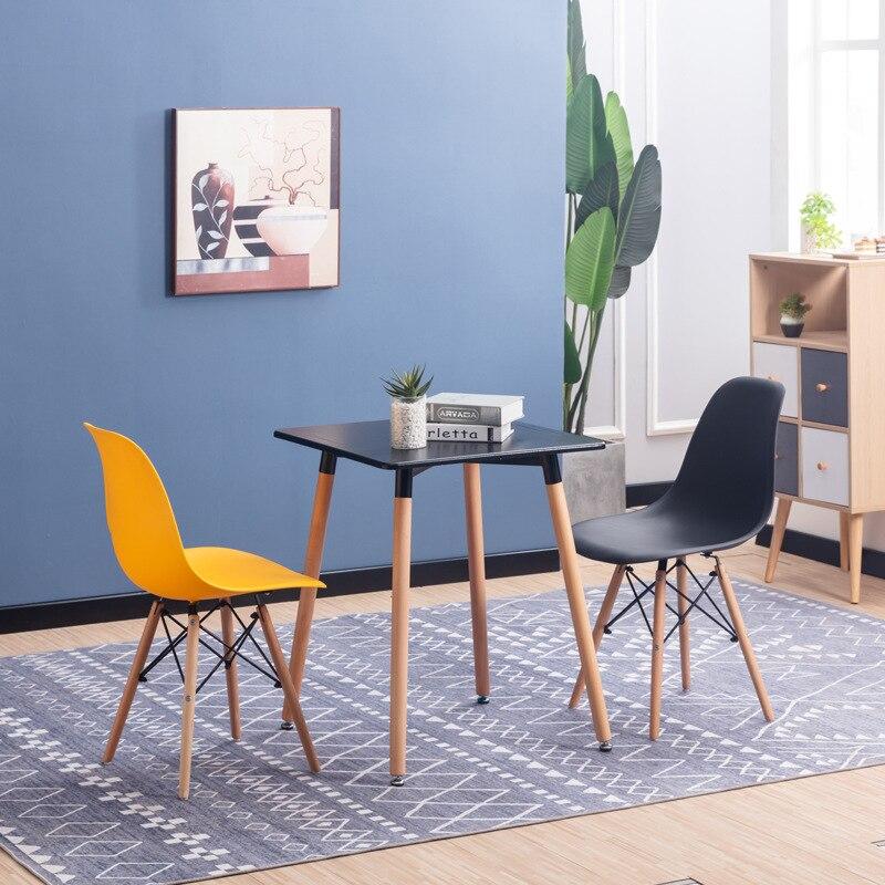 Eames Chair-Style Modern Minimalist Chair Creative Stool Desk Chair Office Back Arm Chair Household Northern European-Style Dini
