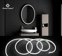 Tira de luces LED para espejo de maquillaje, 12V, control remoto regulable, lámpara de pared blanca/blanca cálida para tocador