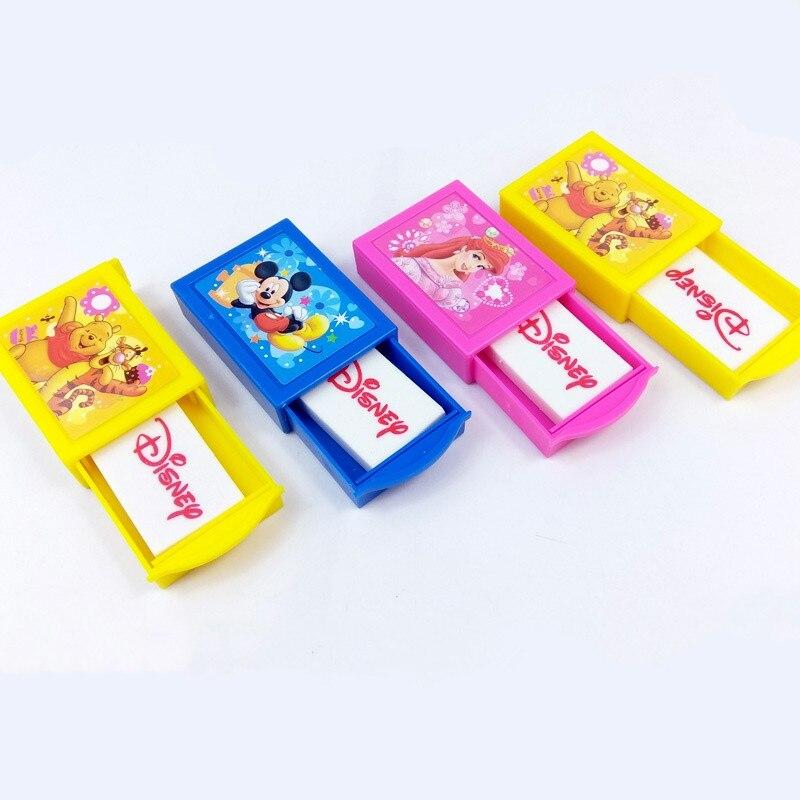 Disney Princess Creative Stationery Mickey Winnie Box Eraser Student School Supplies Children's Gifts Novelty Erasers