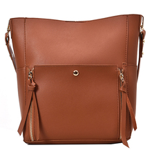 MONNET CAUTHY New Arrival Bags Women Casual Fashion High Capacity Shoulder Bag Solid Color Brown Green Black Khaki Composite