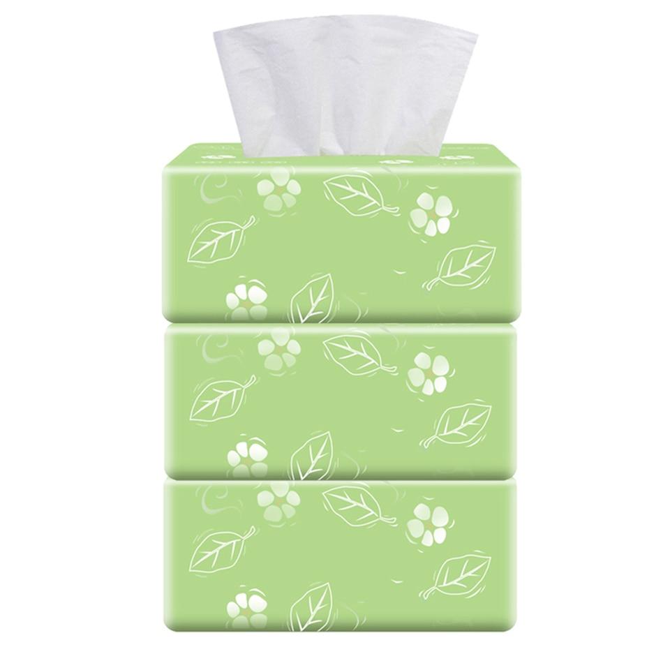 iSunday Ultra Soft Facial Tissues 3 Packs 3-Ply Facial Tissue 300 Tissues per Packs 900 Tissues Total for Home