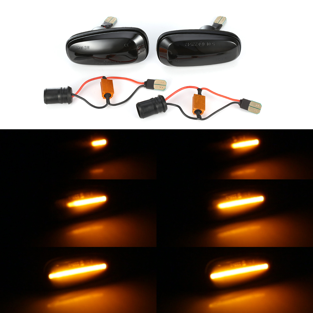 2pcs Yellow Led Turn Signal Dyn amicSide Marker Sequential Blinker Light For Opel Astra G 1998 2009 For Opel Zafira A 1999 2005Signal Lamp   -