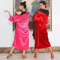 New Latin Dance Coat Velvet Rumba Tango Salsa Cha Cha Dancing Wear Adults Performance Clothes Unisex Competition Robes DN4761