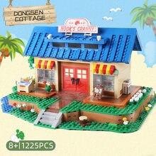 Строительные блоки для животных, пересечение дома, строительные блоки в стиле стритз, Детская модель рождественские игрушки, подарки