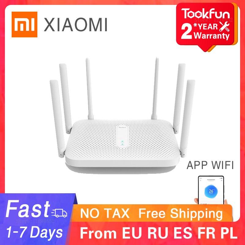 Xiaomi Redmi AC2100 беспроводной маршрутизатор 2,4 г/5G двухчастотный Wifi 128 Мб оперативной памяти, освещению внешнего сигнала усилитель повторитель ...