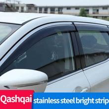 Side Window Deflector For Nissan Qashqai 2018 2019 2021 J11Acrylic Sun Rain Deflector Weather Shield Car Accessories
