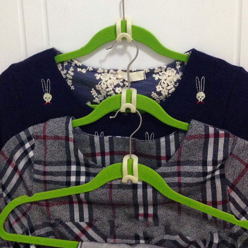Gancho de gancho criativo forte antiderrapante reunindo gancho gancho nenhum traço gancho dobrável forte pode ser empilhado organizador de rack de roupas