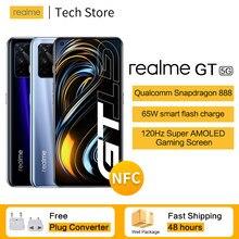 Yeni varış 5G realme GT Snapdragon 888 Smartphone 120Hz ekran yenileme hızı 65W akıllı flaş şarj 6.43 ''Süper AMOLED telefon