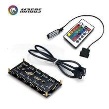 Interface de moyeu rvb 12V 4 broches/5V 3 broches moyeu de répartiteur pour Port d'alimentation SATA ASUS AURA SYNC câble carte mère ventilateur