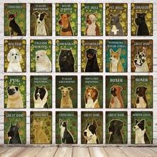 [ Mike86 ] Pets Dog Maltese PUG BOXER Metal Painting Wall tin sign Custom Poster 20*30 CM  DD-9