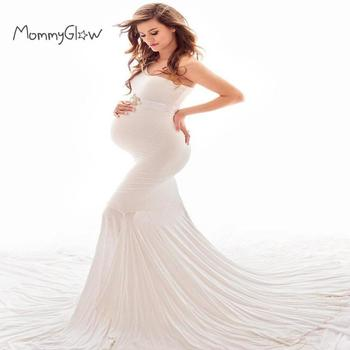 Pregnant Maternity Dresses Photography Props Sexy Off Shoulder Pregnancy Dress For Photo Shooting Long Women Maxi Maternity Gown s m l xl maternity dress for photo shoot maxi maternity gown split front maternity chiffon gown sexy maternity photography props