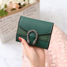 NEW Mini Retro Wallet Women Purse Female Short Mini Wallets Korean Purse Female Small Wallet for Women Coin Purse Card Holde(China)