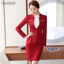 Vrouwen Formele Suits Office Lady Werkkleding Uniform Ontwerp Herfst Winter Broek Blazer Set Mode Plus Size Jas Pak Vrouwelijke 2021