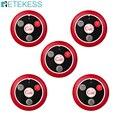 5 шт.  четырехклавишный кальян Retekess T117  пейджер для ресторанов с четырьмя кнопками вызова  беспроводной пейджер для вызова официантов  обору...