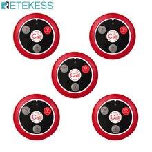 5pcs Retekess T117 Hookah Four-key Call Button Restaurant Pager Wireless Waiter Calling Pager For Restaurant Equipment Cafe