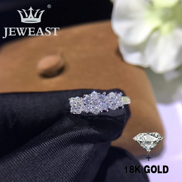 Natural Diamond 18K Gold Pure Gold Ring Beautiful Gemstone Ring Good Upscale Trendy Classic Party Fine Jewelry Hot Sell New 2019