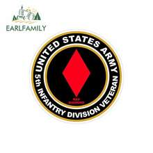 EARLFAMILY 13cm x Car Stickers for UNITED STATES Army Veteran 5th Infantry RV VAN 3D DIY Fine Decal Trunk Truck Graphics