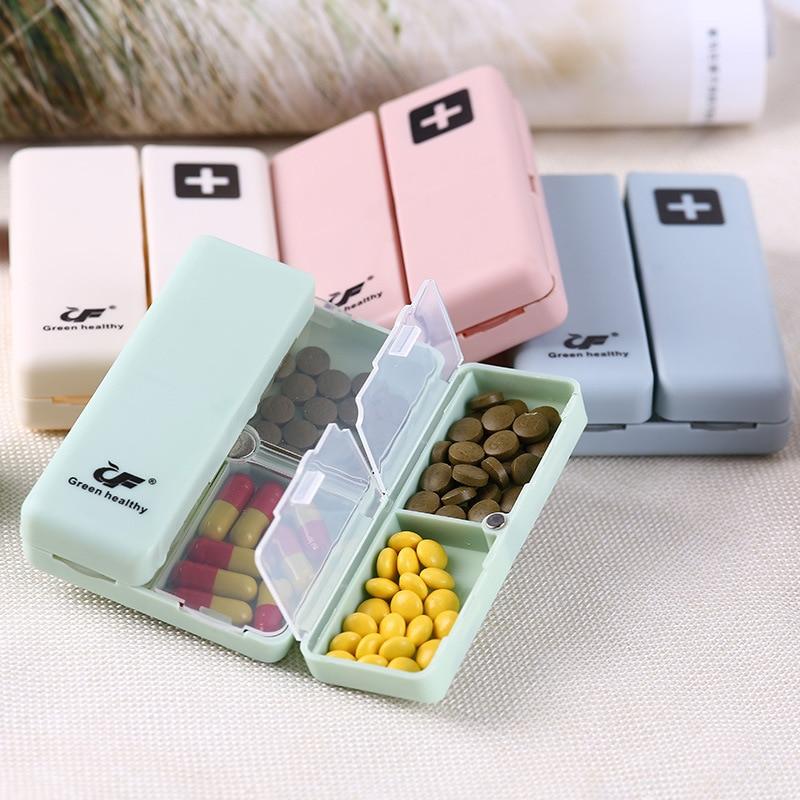 Box Medicine Drugs Storage-Organizer Stored Foldable Mini Cute Travel For Seven-Days-Medicine-Divider