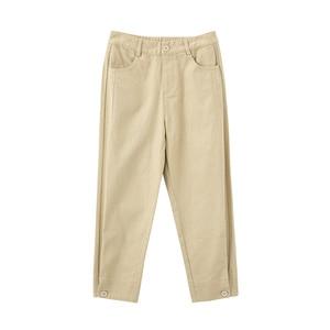 Image 5 - INMAN 2020 printemps nouveauté littéraire couleur Pure taille haute bouton jambe ouverture neuf cent navet femmes pantalon