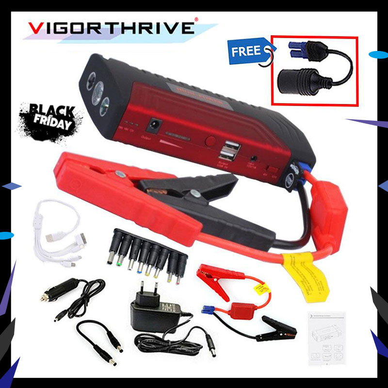 12v Car Jump Starter Peak Portable 600A Auto Battery Booster Power Bank For Petrol Car Mini Emergency Starting Device