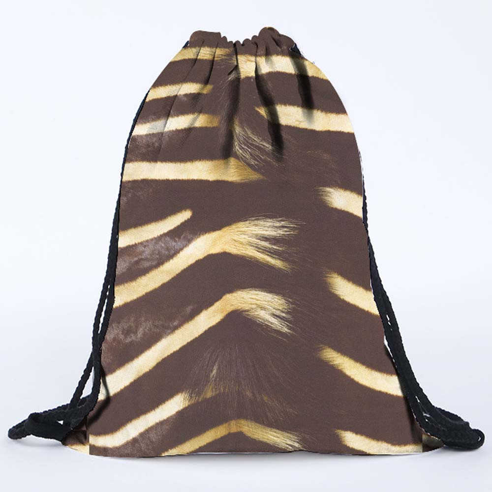 Fashion Drawstring Bag Women Men Gray Bag 3D Printing Bags Backpack Schoolbag Shopping Fresh Lively Casual Travel Handbag Lady