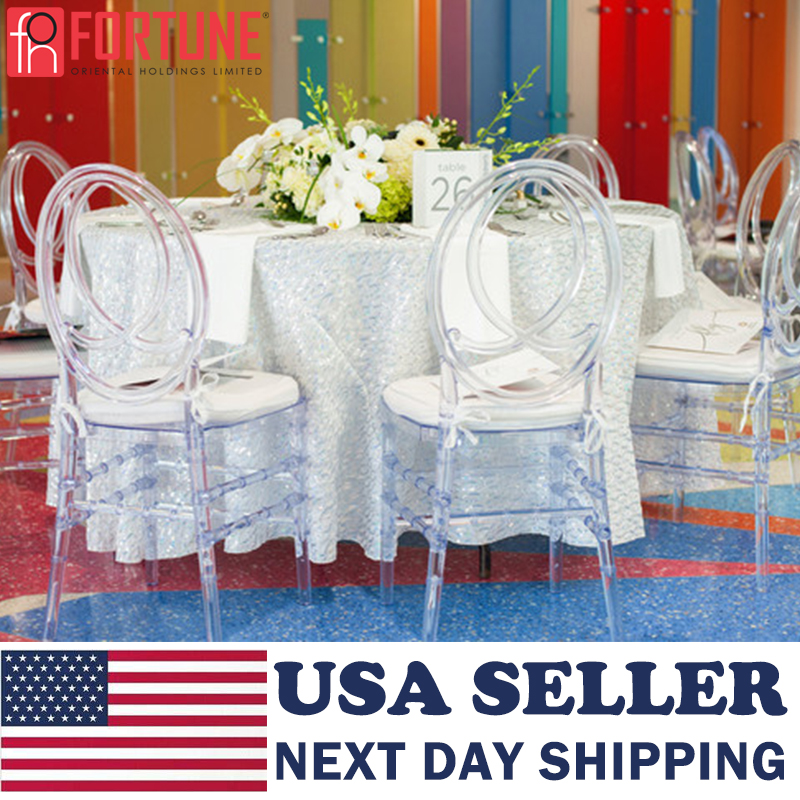 Clear Crystal Chair USA Shipping Clear Crystal Chairs Wedding Stacking Chiavari Transparent Dining Ghost Side Chairs Wholesale