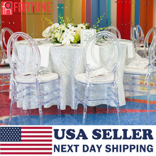Side-Chairs Ghost Clear Transparent Stacking Dining Chiavari Wedding-Part Crystal Whole-Sale