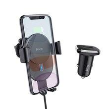 HOCO 10W voiture Qi chargeur sans fil charge rapide pour iPhone 11 X XS Max support pour téléphone de voiture évent support de montage pour Samsung Xiaomi