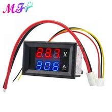 Mini amperometro voltmetro digitale DC 100V 50A 100A pannello Amp Volt voltaggio misuratore di corrente Tester rivelatore doppio Display a LED Auto Auto