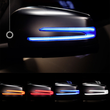LEEPEE 1Pair Car Rear View Mirror Light  LED Indicator Blinker Turn Signal Light LED For BENZ W221 W212 W204 W176 X156 C204 C117