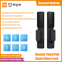 Xiaomi Mijia Push Pull Smart Door Lock Fingerprint Passpord Bluetooth NFC Membuka APP Kontrol Cerdas Linkage Ai Rumah Pintar(China)