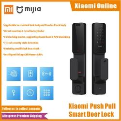 Xiaomi Mijia Push Pull Smart Door Lock Fingerprint Passpord Bluetooth NFC Unlock APP Control Intelligent Linkage Ai Smart Home