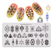 Трафареты beautybigbang из нержавеющей стали для ногтевого дизайна