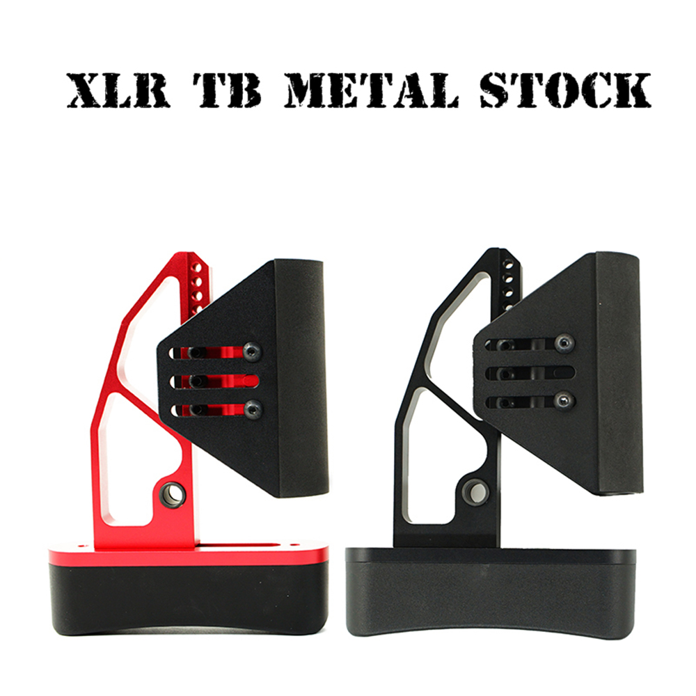 XLR Metal Tactical Toy Gun Stock Gel Blaster Upgrade Extended Stock Upgrade Part TB Metal Stock Replacement Accessories
