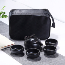 цена на ceramic teapot kettle gaiwan tea cup for puer chinese tea pot portable tea set with travel bag Free shipping