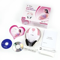 Pink Safe & Portable Baby Fetal Doppler Angel Sound Heart Rate Monitor Detector with Headphone Ideal for Home Use Toiletry Kits