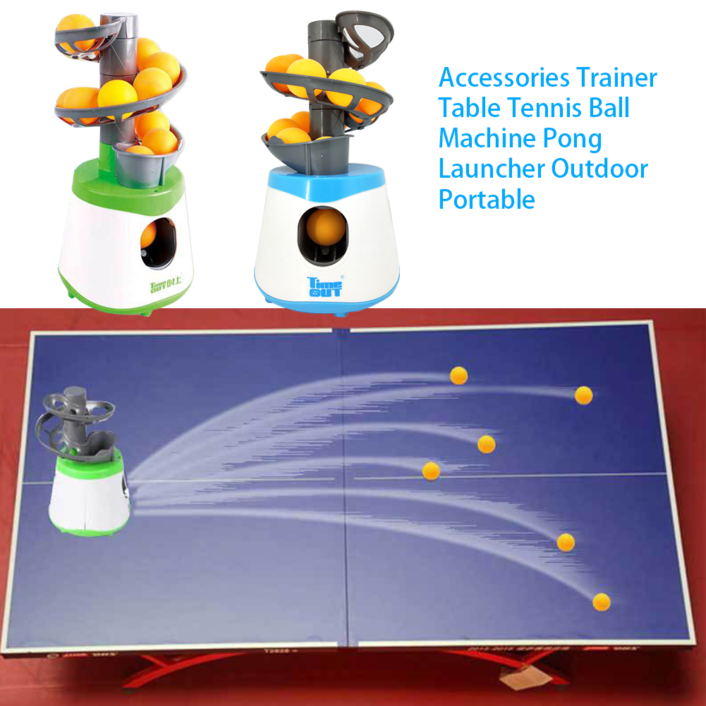 Exercise Outdoor Portable Ball Machine Trainer Serve Table Tennis Pitcher Battery Powered Equipment Pong Launcher Kids Children-3