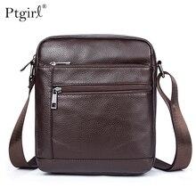 Ptgirl Men's Shoulder Bag Men's Genuine Leather Bag Male Small Crossbody Bags for Men Messenger Bags сумка мужская через плечо цена 2017