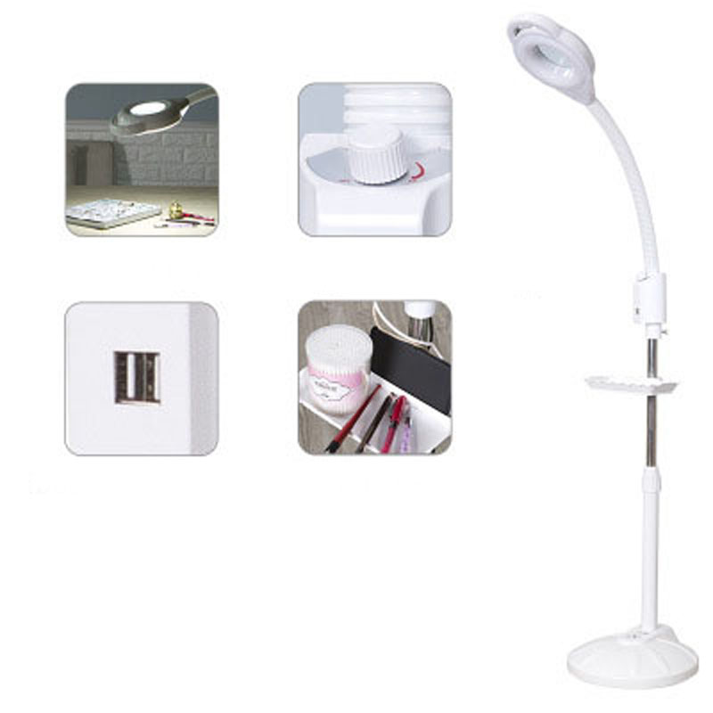 LED Beauty Salon Stepless Dimming Cold Light 10 Magnifying Glass Tattoo Acne Nail Surgery Shadowless Floor Lamp