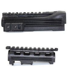 Горячий черный тактический охотничий винтовочный Пистолет Аксессуары страйкбол снаряжение стрельба АК 47 Strikeforce полимер Handguard верхний нижний Пикатинни