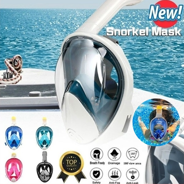2020 New Underwater Scuba Anti Fog Full Face Diving Mask Snorkeling Set Respiratory Masks Safe and Waterproof Swimming Equipment(China)