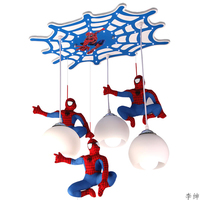 Nordic Spider Man Pendant Lights Modern Glass Lampshade Kitchen Fixtures Pendant Lamp Home Lighting Decor Supermarket Luminaire